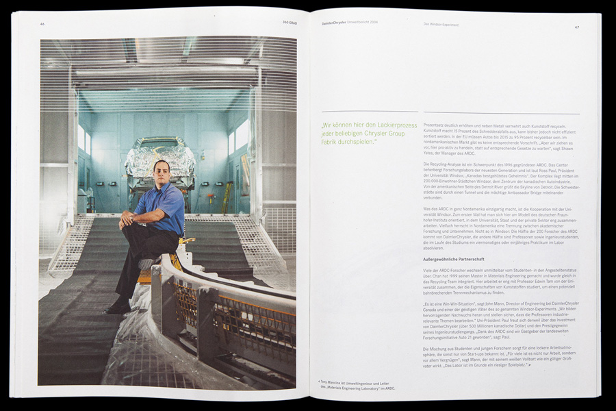 360 Grad | DaimlerChrysler environment report 2004